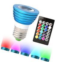 HitLights RGB Multicolor LED Bulb, 3 Watt MR16/E26 -