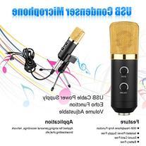 Floureon USB Studio Condenser Recording Microphone  with