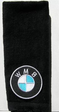 BMW vintage type hand golf towel applique bavarian motor