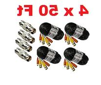 WennoW Lot 4 50FT BNC Male Cable for Q-see / Zmodo / Indoor