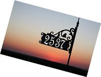 "Boardwalk Reflective Address Sign 48"" Customized with Your"