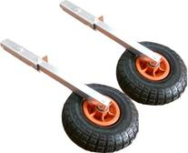 Boat Launching Wheels, Flip Up, Removable for Dinghy, Canoe