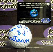 Bob Goalby autographed golf ball inscribed 68 Masters