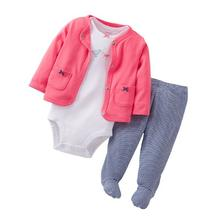 Carter's Baby Girls' 3-Piece Bodysuit, Cardigan & Footed