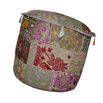 Bohemian Pouf Ottoman Cover 18 X 18 X 14 Inches