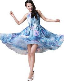 Medeshe Boho Chiffon Holiday Beach Maxi Dress