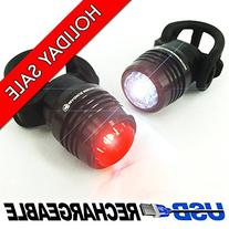 Bold 360 USB Bike Light Set, NEW Multi-Purpose Clip for