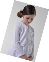Girl's Us Angels Bolero Sweater, Size 6/6X - White