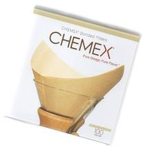 Chemex Bonded Unbleached Pre-folded Square Coffee Filters,