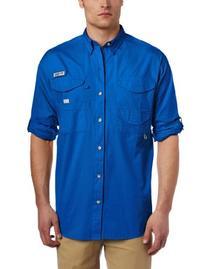 Columbia Men's Bonehead Long Sleeve Shirt, Medium, Vivid