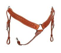 The Colorado Saddlery Border Tooled Breast Collar