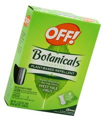 OFF! Botanical Towelettes Plant Based Repellent,8 Towelette