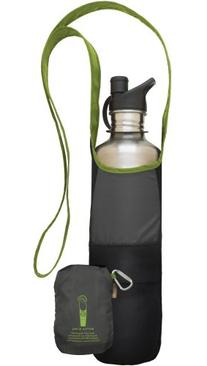 ChicoBag Bottle Sling rePETe with Pouch, Limestone, 4.5 x 10