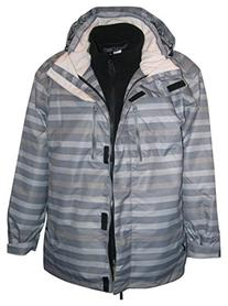 Pulse Women's 3in1 Boundary Ski Jacket Coat Stripe