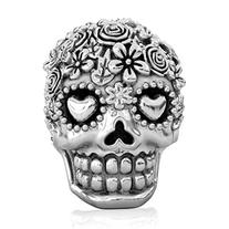 BELLA FASCINI Bouquet Dia de Los Muertos  Skull Bead Fits