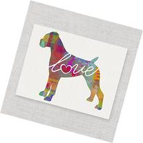 Boxer  Love - Watercolor-Style Print / Poster on Fine Art