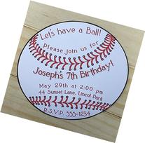 Set of 10 Boy Birthday Party Invitations Baseball Birthday