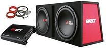 "DS18 BP210 1200W Complete Bass Package with Two 10"" Subs,"