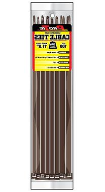 Pro Tie BR11SD100 11.8-Inch Brown Standard Duty Color Cable