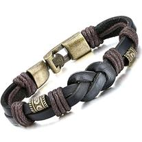 Jstyle Jewelry Braided Leather Bracelets for Men Rope