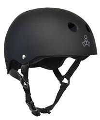 Triple Eight Helmet with Sweat Saver Liner, Black Rubber/