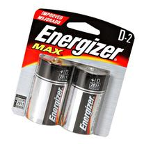 Energizer - D Cell Alkaline Battery Retail Pack - 2-Pack ""