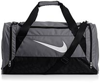 Nike Brasilia 6 Duffel Medium Flint Grey/Black/White Size
