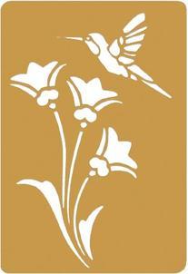 Darice Brass 3-1/4 Inch by 2-1/4 Inch Embossing Stencil,