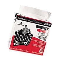 "Brawny Industrial GEP25070CT Heavy Duty Shop Towels 9-1/8"" x"