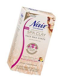 Nair Brazilian Spa Clay Face Wax Strips, 40 Strips