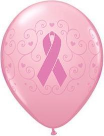 "11"" Breast Cancer Awareness Latex Balloons Bag of 10"