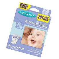 Lansinoh Breast Milk Storage Bags - 50 Count- Dimensions: 5.