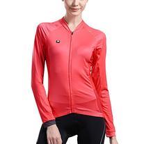 Baleaf Women's Long Sleeve Cycling Jersey Micro Fiber Red
