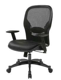 Space Seating Breathable Mesh Black Back and Padded Eco