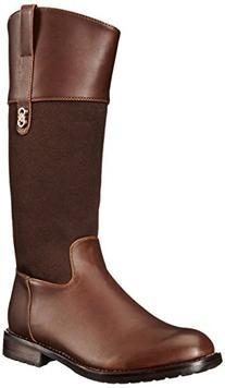 Cole Haan Brennan Riding Boot , Chocolate/Chocolate Print, 6
