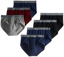BVD Men's 7 Pack Fashion Brief, Multi, Medium