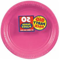 Bright Pink Big Party Pack - Dessert Plates