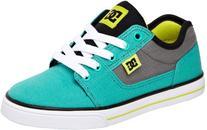 DC Bristol Canvas Skate Shoe ,Aqua/Green,4.5 M US Big Kid