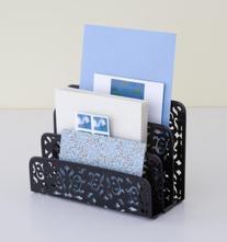 Design Ideas Brocade Letter Holder, Black