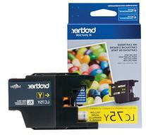 Brother Printer LC75Y High Yield  Yellow Cartridge Ink -