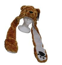 YIJUE Brown Bear Animal Hat and Muffler with Mittens