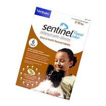 Sentinel 6pk Brown 2-10 lbs Flavor Tabs by NOVARTIS