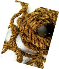 100' Brown Sisal Rope, Dyed Bronze Color