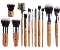 EmaxDesign 12 Pieces Makeup Brush Set Professional Bamboo