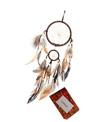 Dream Catchers Brown Handmade Beaded Feather Native American