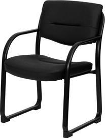 Flash Furniture BT-510-LEA-BK-GG Black Leather Executive