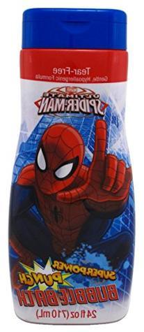 Spiderman Bubble Bath 24oz Superpower Punch