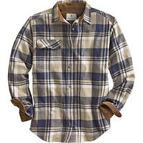 Legendary Whitetails Buck Camp Flannels Shale Plaid Large
