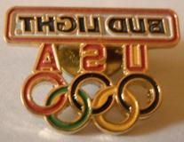 Bud Light USA Olympic Rings Pin