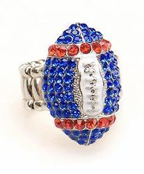 Buffalo Fan Jewelry Blue & Red Rhinestone Women's Girl's